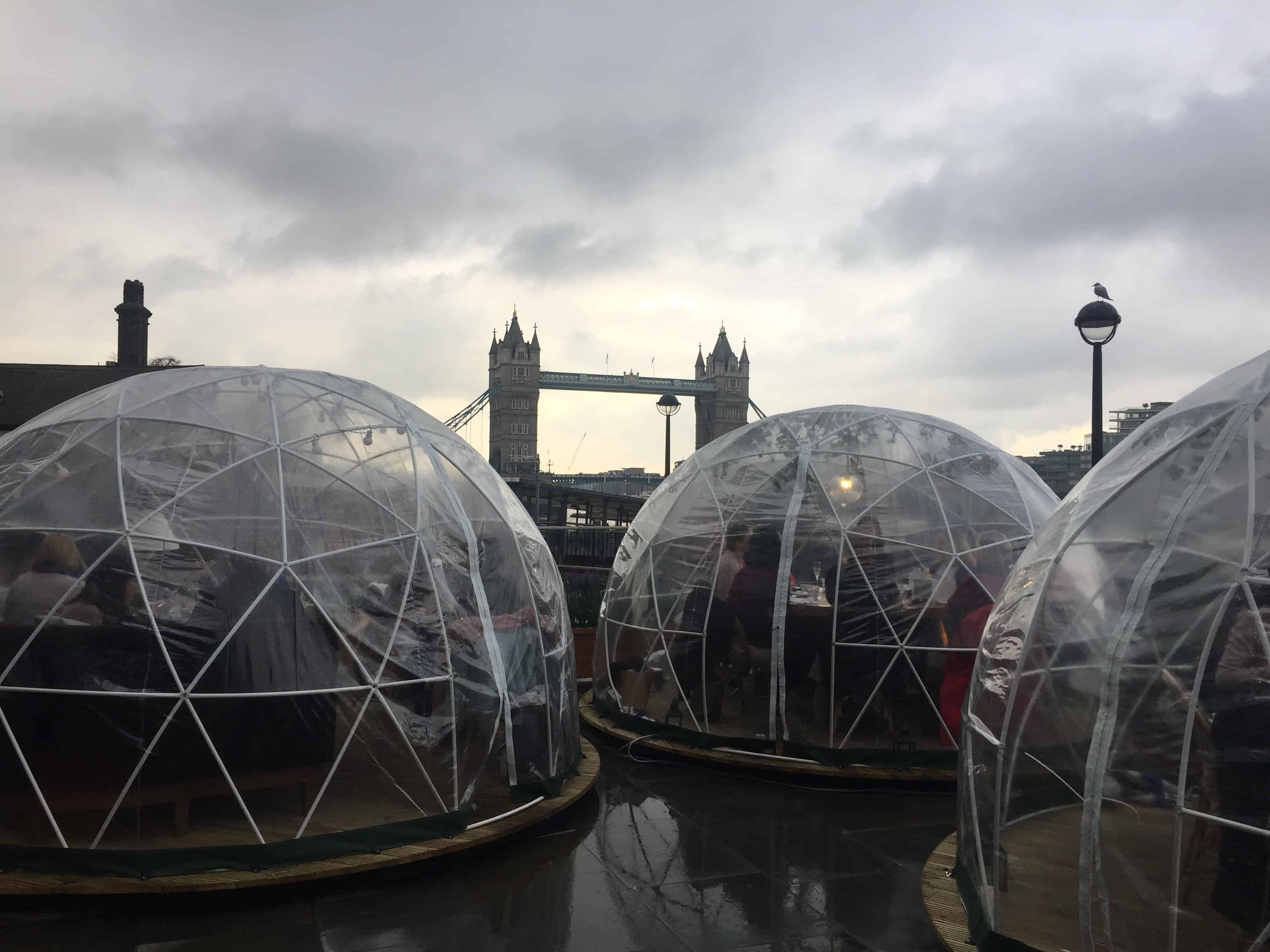 Igloos by the river
