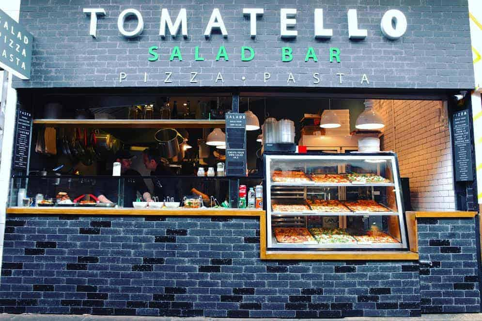 Fresh pizza, pasta and salad in Camden!
