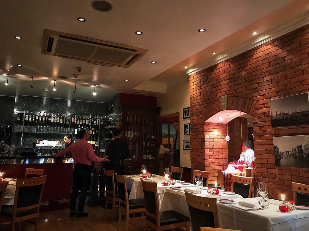 2 Veneti Italian restaurant in Marylebone