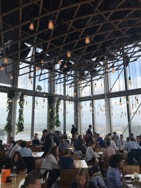 rooftop restaurant in London